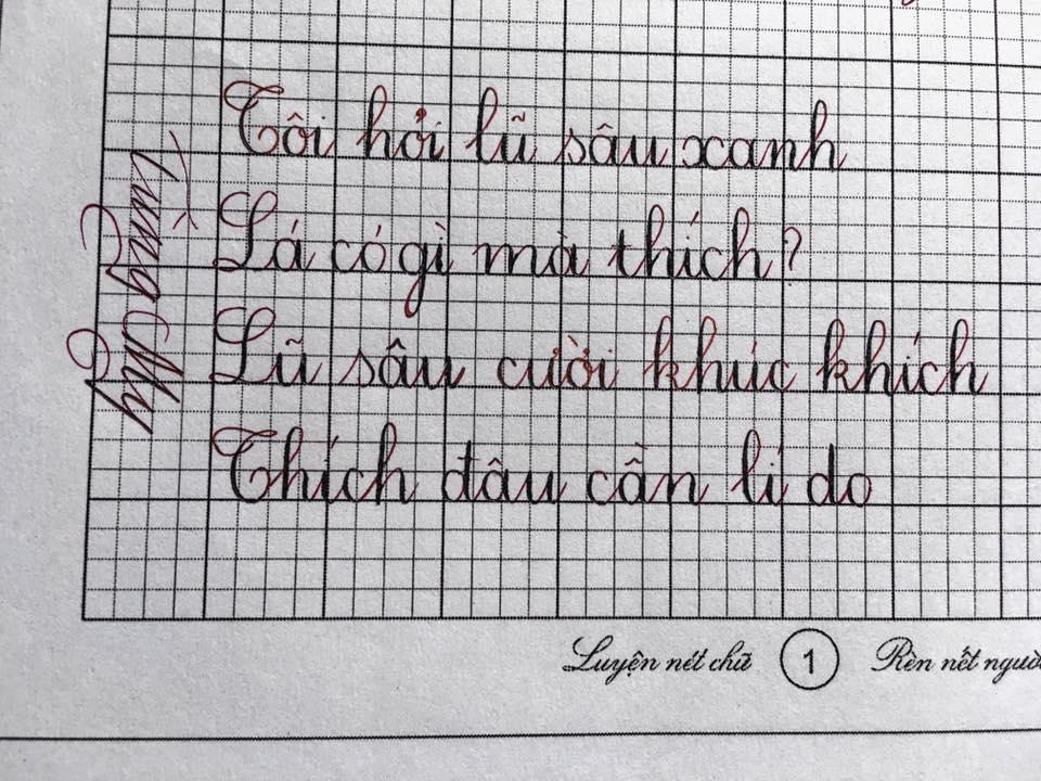 mau luyen chu dep 1 - Những mẫu luyện viết chữ đẹp cần thiết dành cho học sinh cấp 1