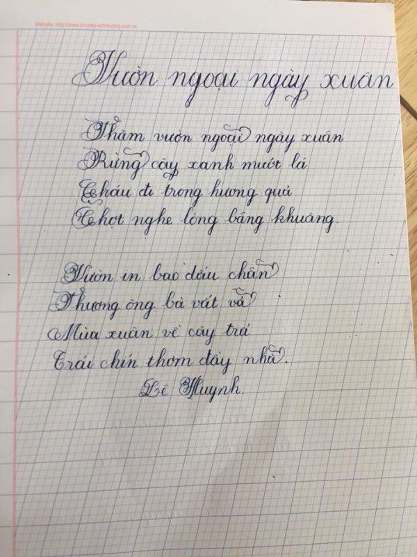 đề thi viết chữ đẹp của học sinh lớp 1