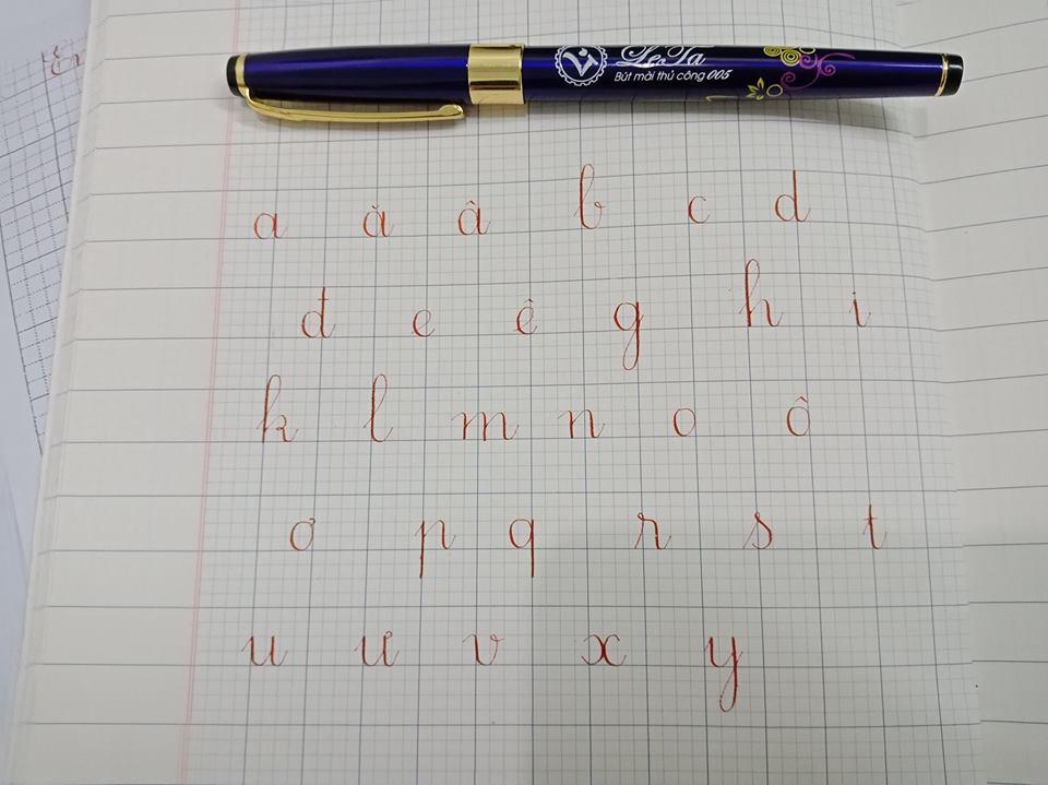 cách viết các nét cơ bản trong tiếng Việt.