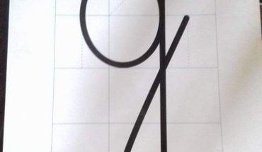 cách viết chữ g