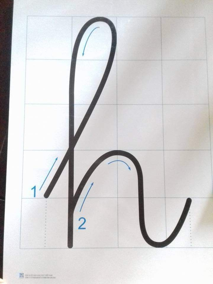 cách viết chữ h