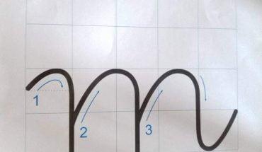cách viết chữ m