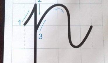 cách viết chữ p
