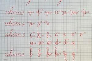 khoảng cách giữa các chữ viết