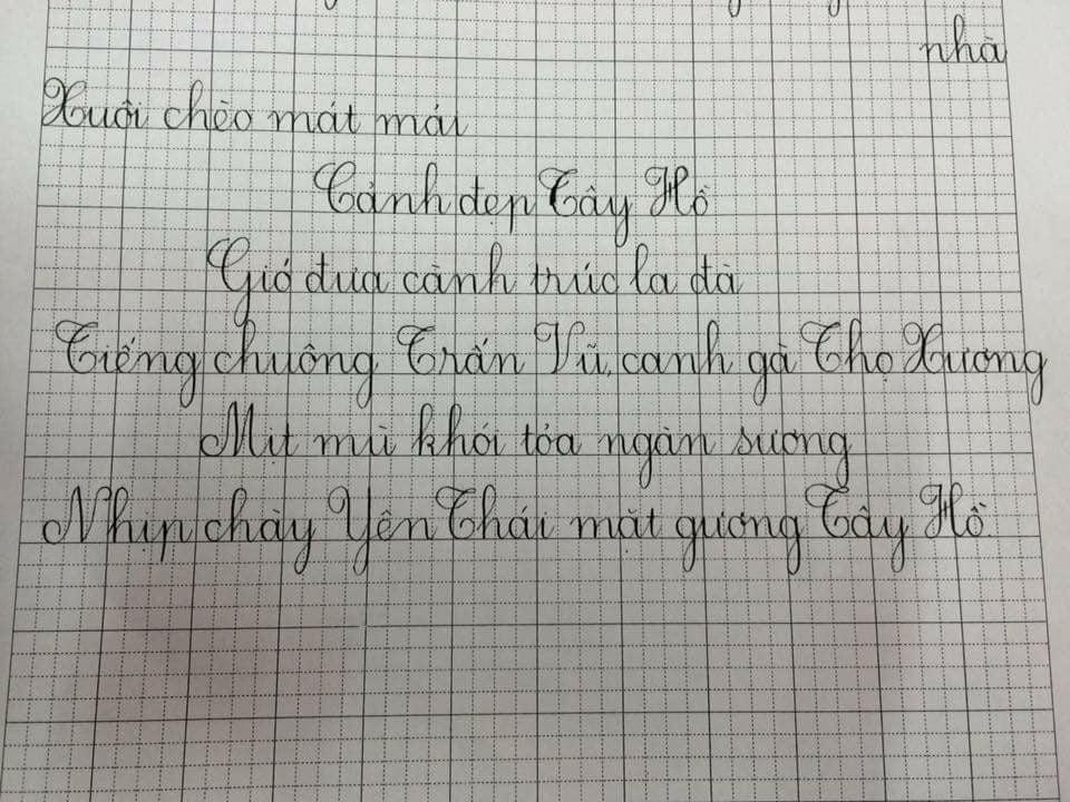 các nét cơ bản luyện chữ đẹp