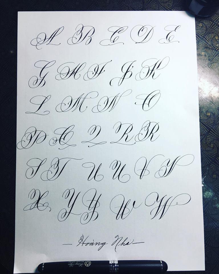 chữ hoa theo nhóm