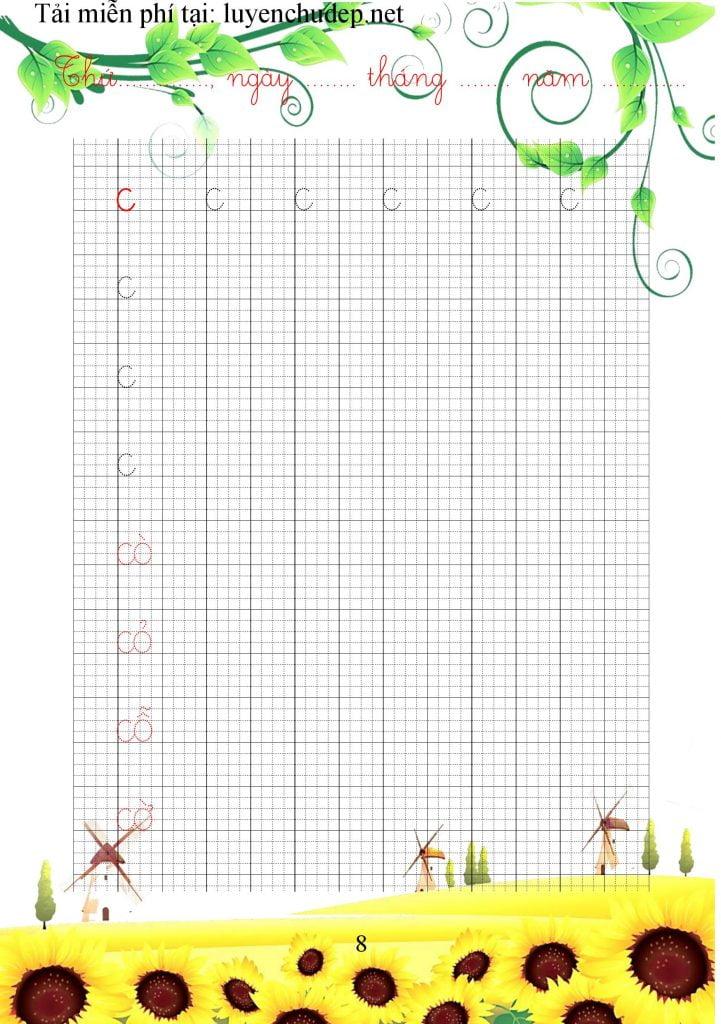vở luyện chữ cái thường, nhóm chữ ghép