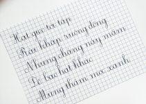 cách viết chữ 1 ô ly
