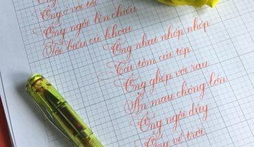 cách viết chữ Ă sáng tạo