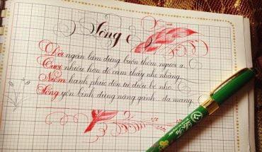 cách viết chữ Ơ sáng tạo