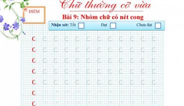 bài tập viết chữ c