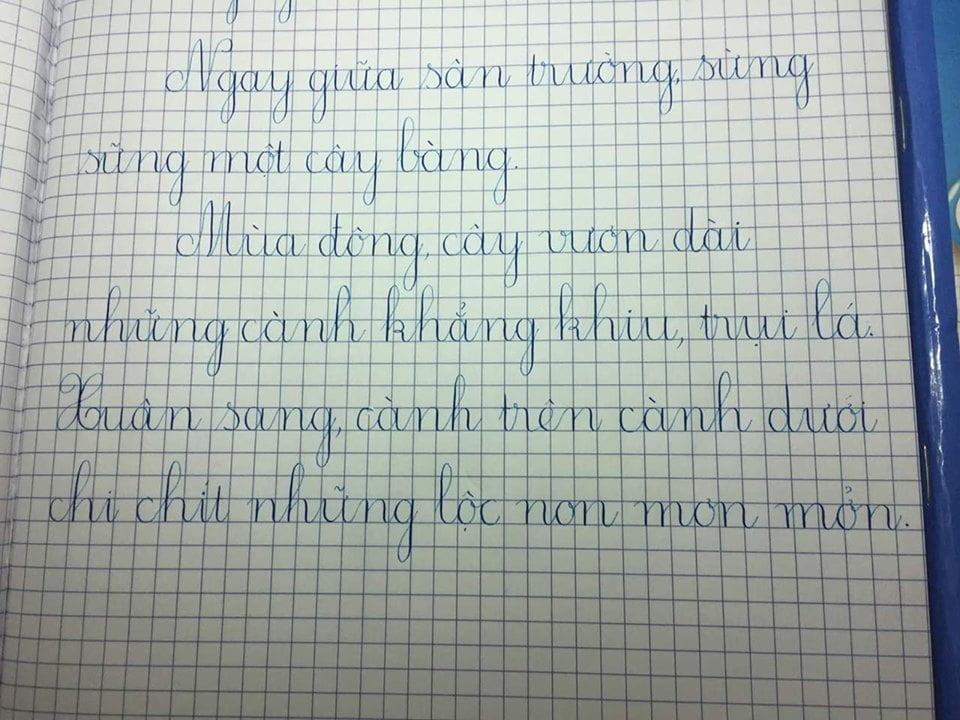 luyện viết chữ đẹp tại nhà