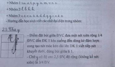 nhóm chữ cái Tiếng Việt