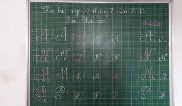 Quy trình viết chữ hoa