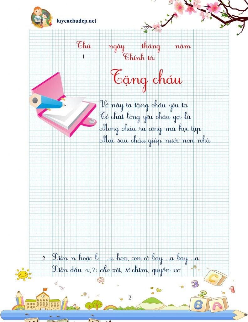 vở thực hành chính tả luyện chữ đẹp