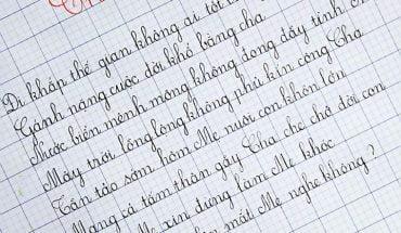 bài thi chữ viết đẹp quốc gia