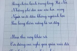 bài viết chữ đẹp sáng tạo