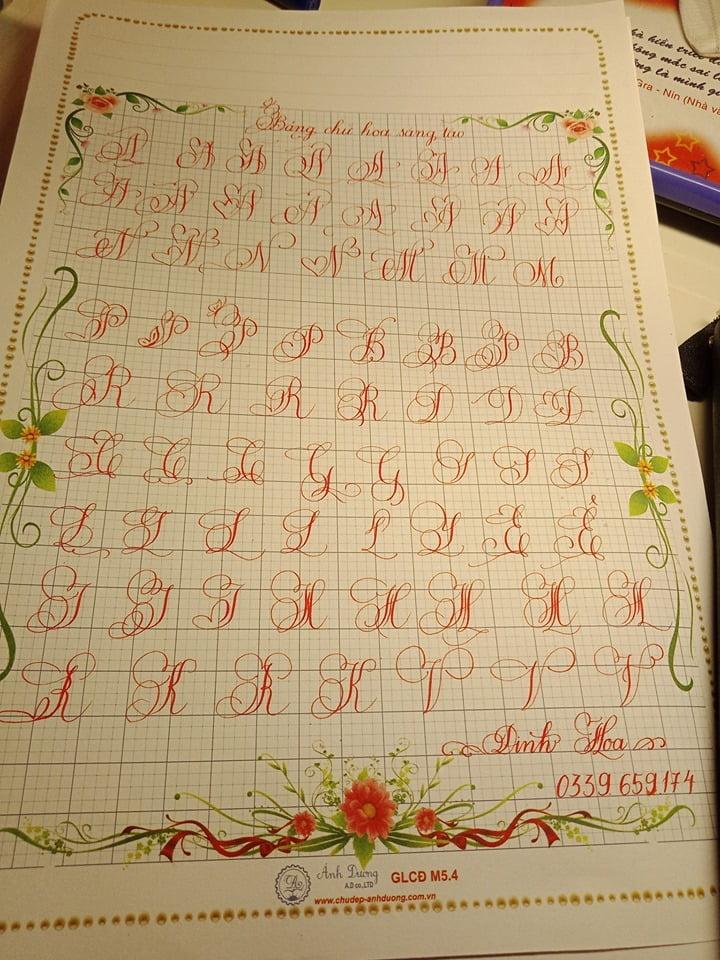 bảng chữ cái tiếng Việt cách điệu