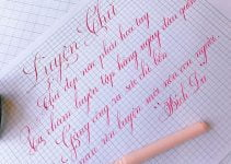 cách viết chữ đẹp nét thanh nét đậm