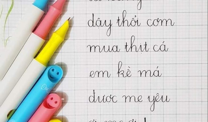 cách viết chữ đúng ô ly