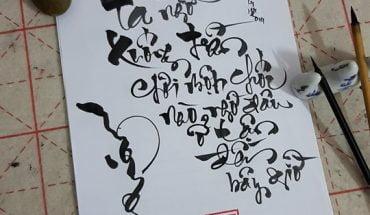 Chọn bút lông viết thư pháp