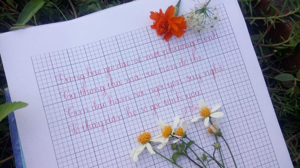 cách viết chữ in đẹp