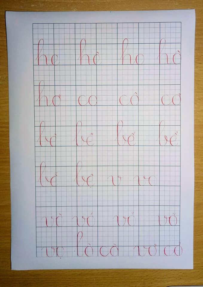 Mẫu chữ cho bé tập viết