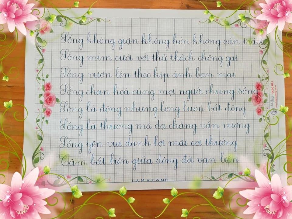 mẫu giấy viết chữ đẹp