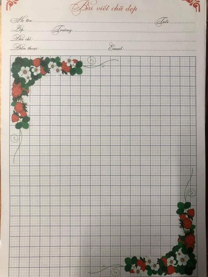 mẫu giấy luyện viết chữ đẹp