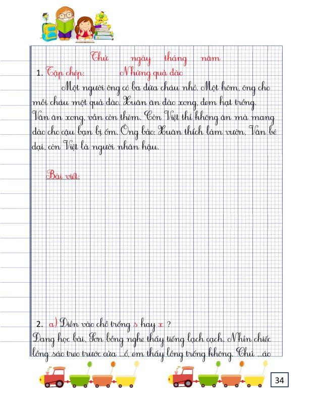 vở luyện chính tả lớp 2 tập 2