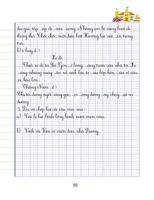 vở luyện chính tả lớp 3 tập 2