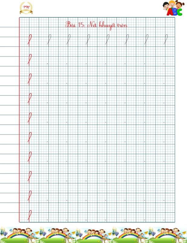vở luyện chữ đẹp các nét cơ bản