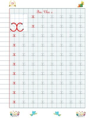 Vở luyện chữ đẹp chữ cái theo nhóm nét cơ bản